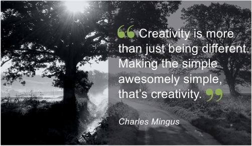 Creativity is more than just being different
